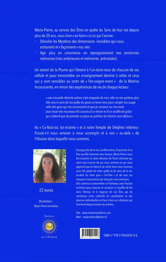 Quatrième de couverture Marie-Pierre Lemahieu